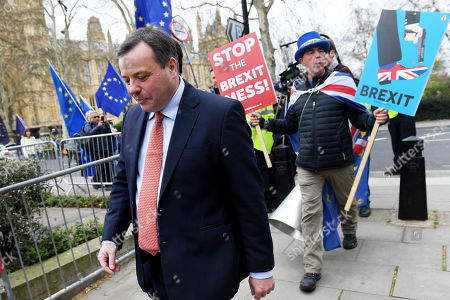 Editorial picture of Arron Banks and Andy Wigmore out and about, London, UK - 27 Mar 2019