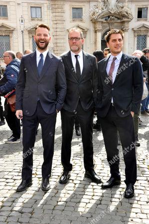 Stock Photo of Alessandro Borghi, Valerio Mastandrea, Luca Marinelli