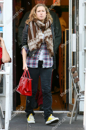Editorial photo of Sophie Miller leaving Falafel Place in New York, America - 20 Oct 2009