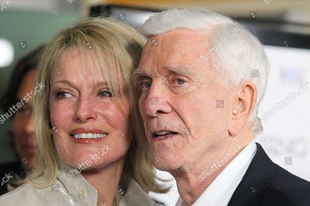 Stock Image of Leslie Nielsen and wife Barbaree Earl Nielsen