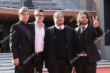 Stock Picture of Thure Lindhardt, Morten Holst, Nicolas Bro and Nicolo Donato