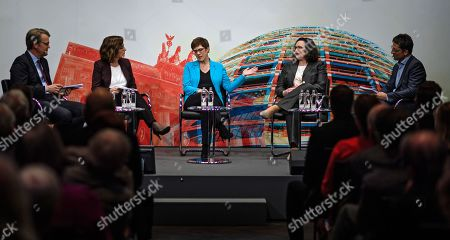 Editorial picture of Politics talk with SPD and CDU chairwomen Nahles and Kramp-Karrenbauer, Berlin, Germany - 27 Mar 2019