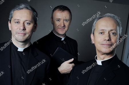 Irish Priests L to R: Father Martin O'Hagen, Father David Delargy and Father Eugene O'Hagan who collectively make up the vocal group, The Priests
