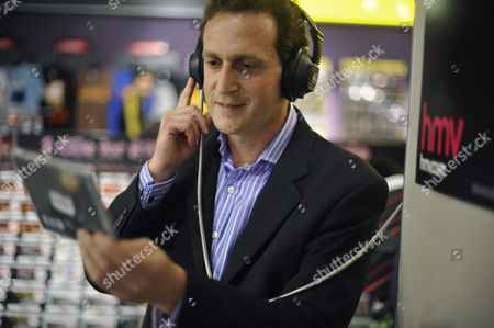 Simon Fox, CEO of HMV at the flagship Oxford Street branch, Oxford Street, London