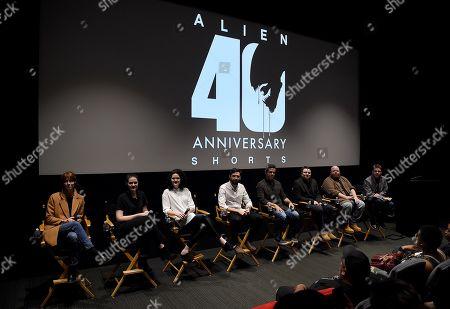 Stock Image of Kelsey Taylor,Sam Spear, Kailey Spear, Aidan Brezonick, Benjamin Howdeshell, Chris Reading, Noah Miller, Jim Vejvoda