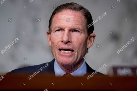 Sen. Richard Blumenthal, D-Conn., speaks as Federal Aviation Administration Acting Administrator Daniel Elwell, National Transportation Safety Board Chairman Robert Sumwalt, and Department of Transportation Inspector General Calvin Scovel appear before a Senate Transportation subcommittee hearing on commercial airline safety, on Capitol Hill, in Washington. Two recent Boeing 737 MAX crashes, in Ethiopia and Indonesia, which killed nearly 350 people, have lead to the temporary grounding of models of the aircraft and to increased scrutiny of the FAA's delegation of a number of aspects of the certification process to the aircraft manufacturers themselves