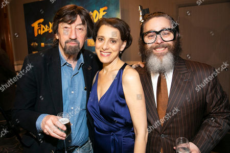 Sir Trevor Nunn (Director), Judy Kuhn (Golde) and Andy Nyman (Tevye)