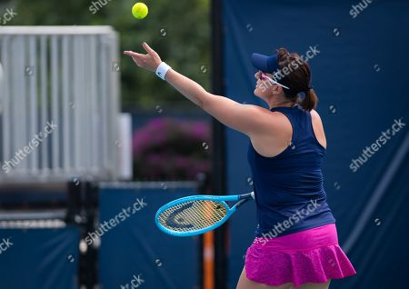 Abigail Spears of the United States & Monica Niculescu of Romania playing doubles