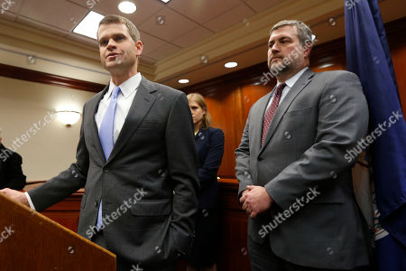 Thomas Cullen, James Dwyer. U.S. Attorney Thomas Cullen, left, speaks to the media along with FBI agent James Dwyer, right, after a plea agreement with James Alex Fields who was charged with 30 counts stemming from a car attack during the Unite the Right rally in 2017, in federal court in Charlottesville, Va