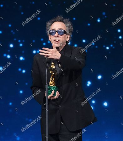 Tim Burton on stage in the occasion of the 64th edition of the David di Donatello Awards in Rome, Italy, 27 March 2019. The David di Donatello award is a film prize presented annually to honor the best of Italian and foreign motion picture productions.