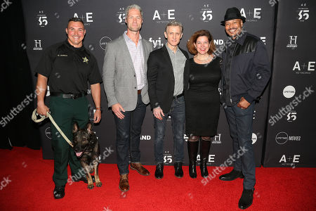 "Deputy Nick Carmack and K9 Shep, Sgt. Sean ""Sticks"" Larkin, Dan Abrams, Elaine Frontain Bryant (Producer) and Tom Morris Jr."