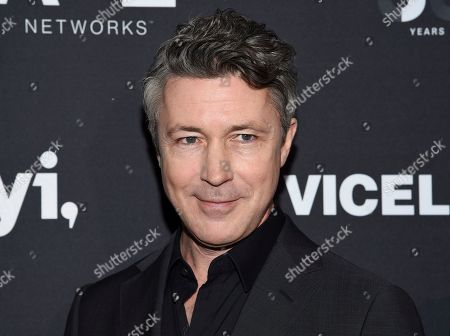 Aidan Gillen attends A+E Networks' 2019 Upfront at Jazz at Lincoln Center, in New York