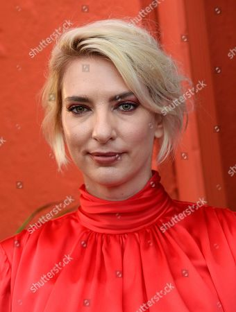 """Sarah Daggar-Nickson, director of """"A Vigilante,"""" poses at the premiere of the film at the Vista Theatre, in Los Angeles"""