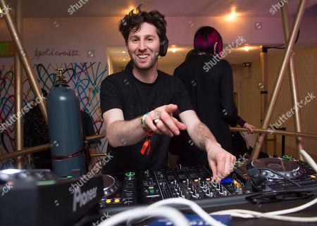 DJ Matt Medved performs at the Big Beat & Friends Miami party at the Dream Hotel, in Miami Beach, Fla