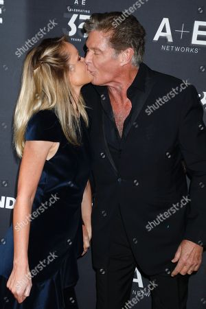 Hayley Roberts and David Hasselhoff