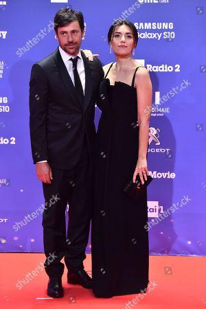Davide Devenuto and Serena Rossi