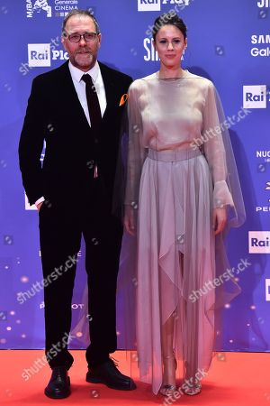 Stock Picture of Valerio Mastrandrea and Chiara Martegiani