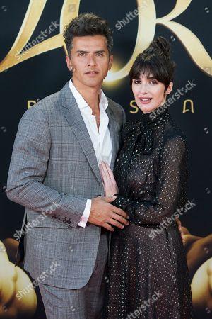 Stock Photo of Orson Salazar and wife Paz Vega