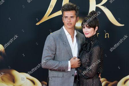 Stock Image of Orson Salazar and wife Paz Vega