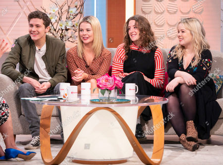 The Derry Girls cast - Dylan Llewellyn, Saoirse-Monica Jackson, Louisa Hardland and Nicola Coughlam