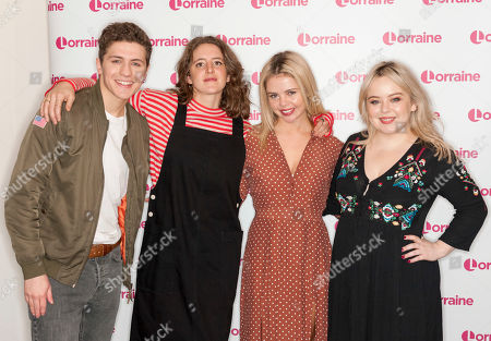 The Derry Girls cast - Dylan Llewellyn, Louisa Hardland, Saoirse-Monica Jackson and Nicola Coughlam