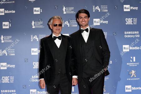 Andrea Bocelli with son Matteo