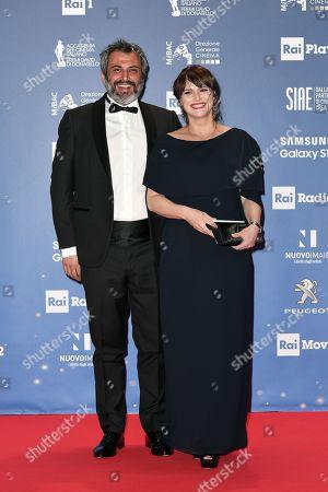 Stock Image of Lorena Bianchetti with husband Bernardo De Luca
