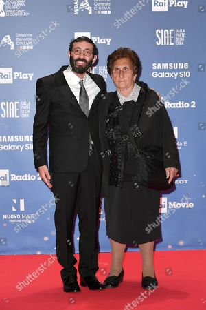 Marcello Fonte with mother