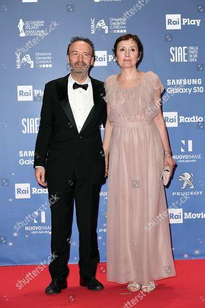 Roberto Benigni with wife Nicoletta Braschi