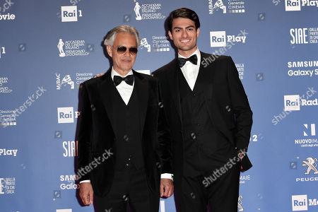 Tenor Andrea Bocelli and son Matteo