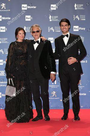 Veronica Berti, Andrea Bocelli and son Matteo