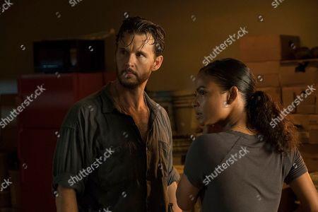 Ryan Kwanten as Steve Hammond and Katrina Law as Karen Beach