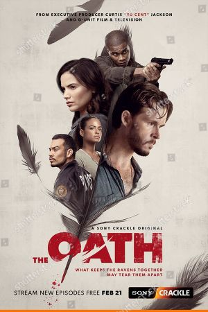 The Oath (2019) Poster Art. Joseph Julian Soria as Ramos, Christina Milian as Christine Parks, Katrina Law as Karen Beach, Cory Hardrict as Cole Hammond and Ryan Kwanten as Steve Hammond
