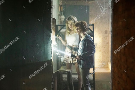 Stock Picture of Laura Wiggins as Helen Corning and Sophia Lillis as Nancy Drew