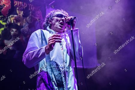 London United Kingdom - November 16: Vocalist Fee Waybill Of American Rock Group The Tubes Performing Live On Stage At Wembley Arena In London On November 16