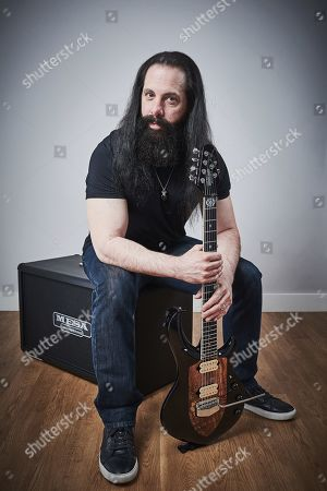 Manchester United Kingdom - April 27: Portrait Of American Musician John Petrucci Guitarist With Progressive Metal Group Dream Theater Photographed In Manchester England On April 27