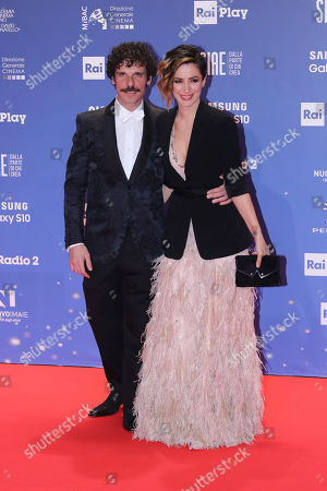 Francesco Montanari with his wife Andrea Delogu