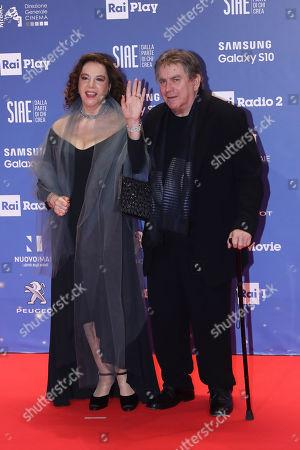 Stefania Sandrelli with her husband Giovanni Soldati