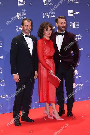 Stock Image of Andrea Occhipinti, Jasmine Trinca, Alessandro Borghi