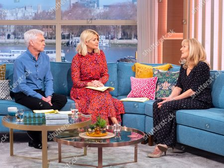 Phillip Schofield and Holly Willoughby with Cathy Shipton