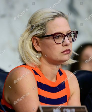 "United States Senator Kyrsten Sinema (Democrat of Arizona) questions witnesses as they testify before the US Senate Committee on Commerce, Science, and Transportation Subcommittee on Aviation and Space, during a hearing titled, ?The State of Airline Safety: Federal Oversight of Commercial Aviation"" to examine problems with the Boeing 737 Max aircraft highlighted by the two recent fatal accidents."