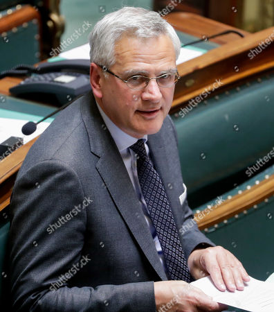 Vice-Prime Minister and Minister of Employment, Economy, Consumer Affairs and equal chances Kris Peeters during a plenary session at the federal parliament in Brussels, Belgium, 28 March 2019. The main subject of the plenary session is a discussion on the Climat act.