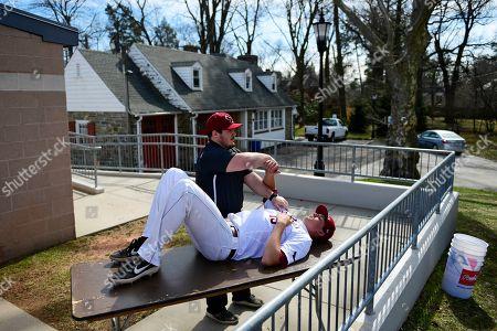 Editorial picture of George Mason St Joseph's Baseball, Philadelphia, USA - 24 Mar 2019