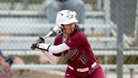 North Carolina Central's Caroline Campbell (10) awaits a pitch during an NCAA softball game on in Cary, N.C