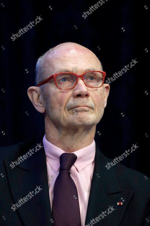 World Trade Organization Director General Pascal Lamy attends the symposium 'The Euro Area: Staying the Course through Uncertainties' at the Banque de France in Paris, France, 28 March 2019. On the occasion of the 20th anniversary of the euro, a symposium is co-organized at the Banque de France with the European Money and Finance Forum (SUERF).