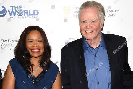 Dana White and Jon Voight
