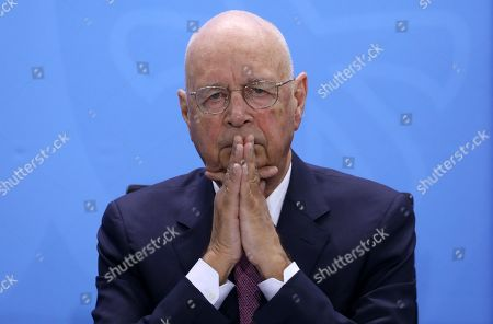 The founder and Executive Chairman of the World Economic Forum Klaus Schwab looks on during a meeting with German Chancellor, Angela Merkel (unseen) in Berlin, Germany, 28 March 2019. Merkel met a business delegation in the Chancellery.