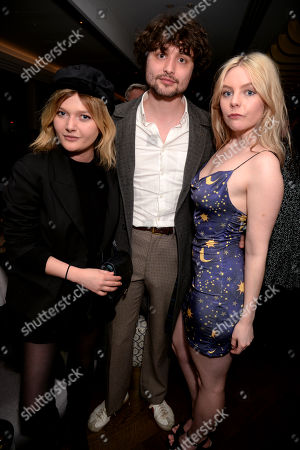 Stock Image of Sophie Kennedy Clark, guest and Nell Hudson