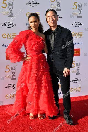 Thandie Newton and Leonardo Nam