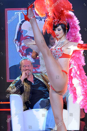 Stock Photo of Terry Gilliam and dancer Nora Mogalle